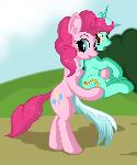 Pinkie Pie with Lyra
