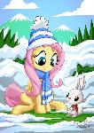 Fluttershy Angel Winter