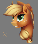 Applejack portrait (no bg)