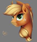 Applejack portrait (no bg)