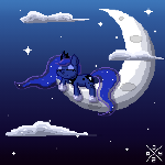 Sleeping Pixel Luna