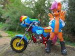 Scootaloo and her scooter