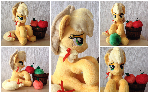 Plushie Applejack with plushie apples