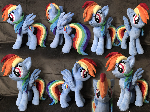 Rainbow Dash Plush .: ON ETSY :.