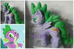 mlp plushie commission SPIKE PONIFIED