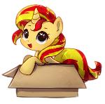 Sunset Shimmer in a Box
