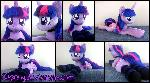 45in laying Lifesize Twilight Sparkle plush