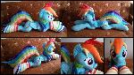 Lifesize Rainbow Dash plush with socks