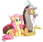 Discord and Fluttershy Colored