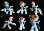 Rearing Dashie plush