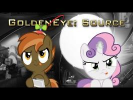 Button Mash and Sweetie Belle Play (Goldeneye: Source)