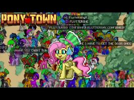 Fluttershy plays PonyTown ???? | WE ACTUALLY BROKE THE WEBSITE.