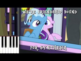 MLP - We're Friendship Bound Synthesia [Piano Cover]