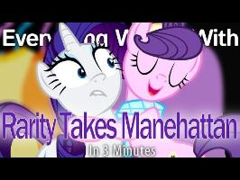 (Parody) Everything Wrong With Rarity Takes Manehattan in 3 Minutes