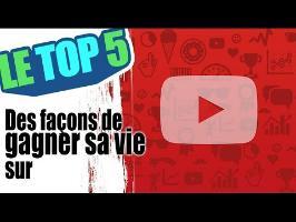 Le top 5 des façons de gagner sa vie sur youtube