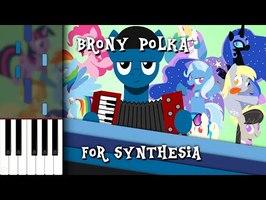 Brony Polka Medley - Synthesia [Piano Tutorial]
