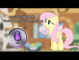 Fluttershy and Siri have a Conversation