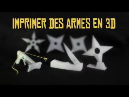 Imprimer des armes en 3D - Expérience