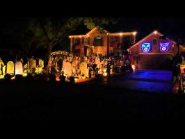 Halloween 2014 Light Show. Queen, Bohemian Rhapsody. Thomas Halloween House, Naperville IL