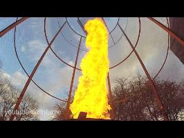 20ft Fire Tornado Firework Launcher