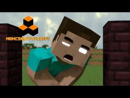 Monster School - Minecart Race! RIP Herobrine's Balls - Minecraft Animation