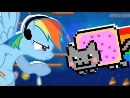Rainbow Dash plays Nyan Cat: Lost in Space ???? | RainNO.