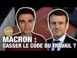 TRAVAIL : LES PREMIERES MESURES DE MACRON