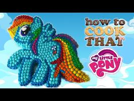 RAINBOW DASH M&M MY LITTLE PONY CAKE How To Cook That Ann Reardon