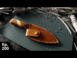 Fabrication d'un étui en cuir custom pour mon super couteau - Ep200