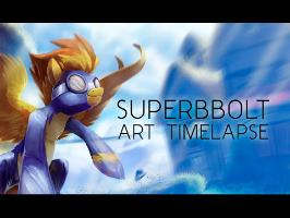 SuperBolt (My Little Pony Art Time-lapse)
