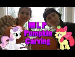 MLP Pumpkin Carving w/Apple Bloom & Sweetie Belle - Halloweek #2 by Michelle Creber & Claire Corlett