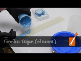 Making DIY gecko tape - work in progress