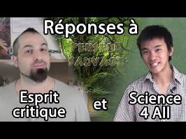 Réponses à Esprit Critique (Herméneutique) et Science4All (Démocratie)