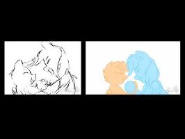 Rough vs final - You and Me MLP fan animatic