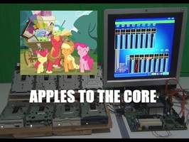 My little Pony Apples to the core on 8 floppy drives and a pc beeper