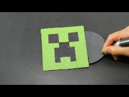 Pancake Art - Minecraft Creeper by Tiger Tomato