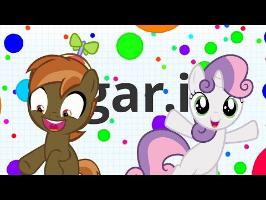 Button Mash and Sweetie Belle play (Agar.io)
