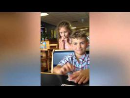 Boy Pranks Himself With Cardtrick