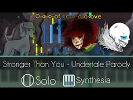 Stronger Than You - Undertale Parody - |DUET TUTORIAL w/ LYRICS| -- Synthesia HD