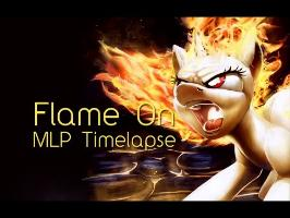 Flame On (My Little Pony Art Time-lapse)