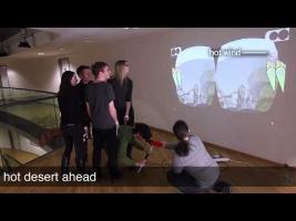 Haptic Turk: a Motion Platform Based on People