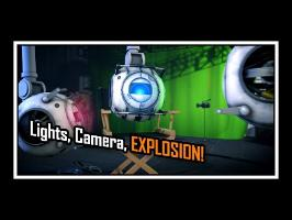 Portal 2 - Lights, Camera, Explosion! [Saxxy 2014 - Short Comedy]