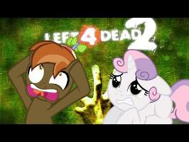 Button Mash and Sweetie Belle play (Left 4 Dead 2: Minecraft Village)