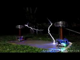 Dr. Who Theme on Musical Tesla Coils.
