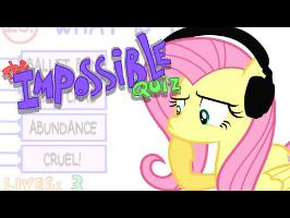 Fluttershy plays The Impossible Quiz | I NEVER ate cardboard?!