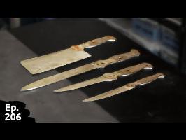 Rénovation d'un set de couteaux de Sylvie - première partie - Ep206