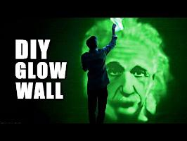GLOWING WALL DIY- EASY and AWESOME