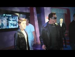 Arnold Schwarzenegger pranks fans by posing as Terminator wax statue