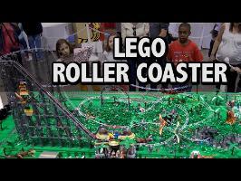 125,000 LEGO Pieces! Jurassic Park Roller Coaster Dinosaur Amusement Park