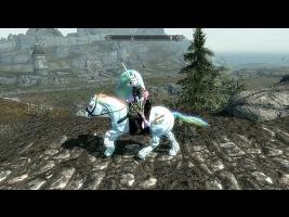 Achievement Hunter : Skyrim Mods: You spilled your rainbow on my game